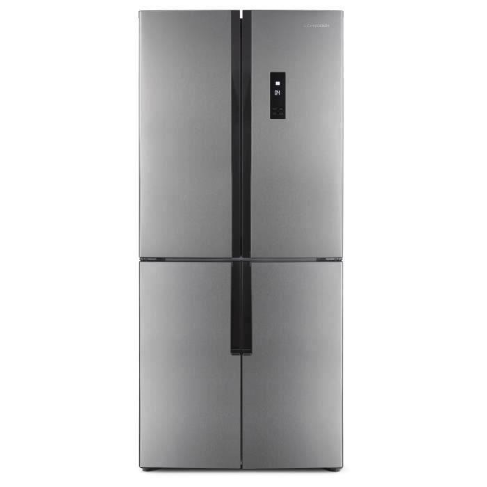 SCHNEIDER SCWMD430IX - Réfrigérateur multiportes - 418 L (274 + 144 L) - Froid no frost - A+ - L 78,