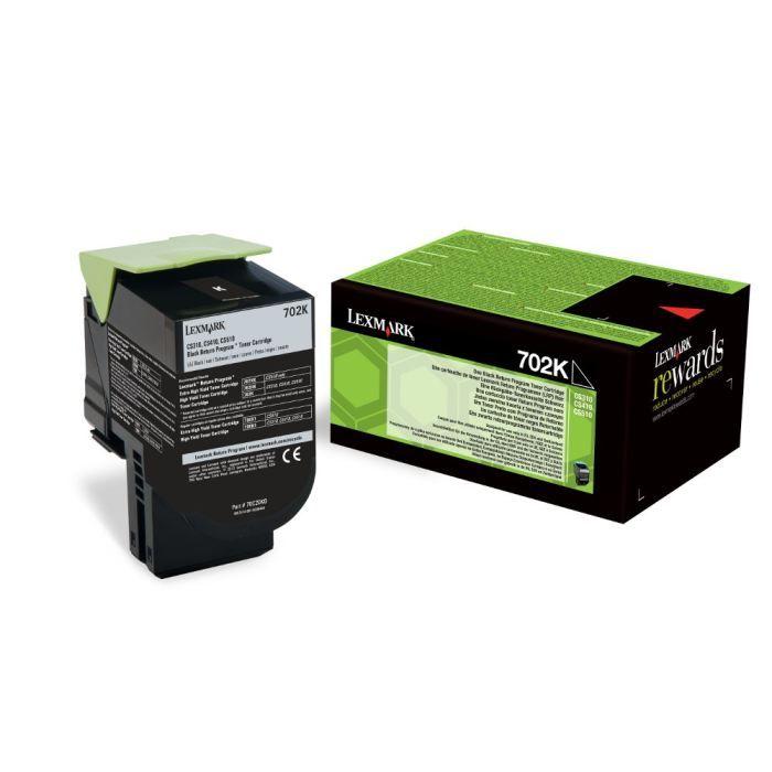 LEXMARK Cartouche de toner 702K - Capacité standard 1.000 pages - Pack de 1 - Noir