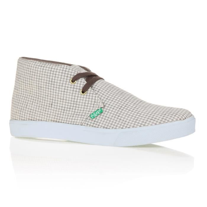 KEEP Baskets Montantes Shaheen Organic Hound Flax - Homme - Gris