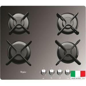 WHIRLPOOL AKT2000MR Table de cuisson gaz - 4 foyers - 7800W - L59 x P51cm - Rev?tement verre trempé - Miroir