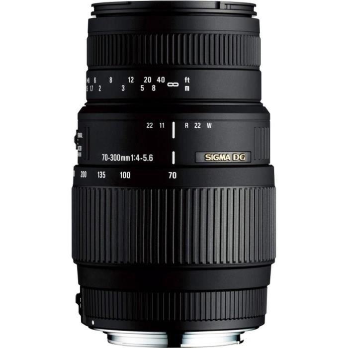 SIGMA 70-300mm F4-5.6 DG Macro NIKON - Pour appareil photo numérique Reflex