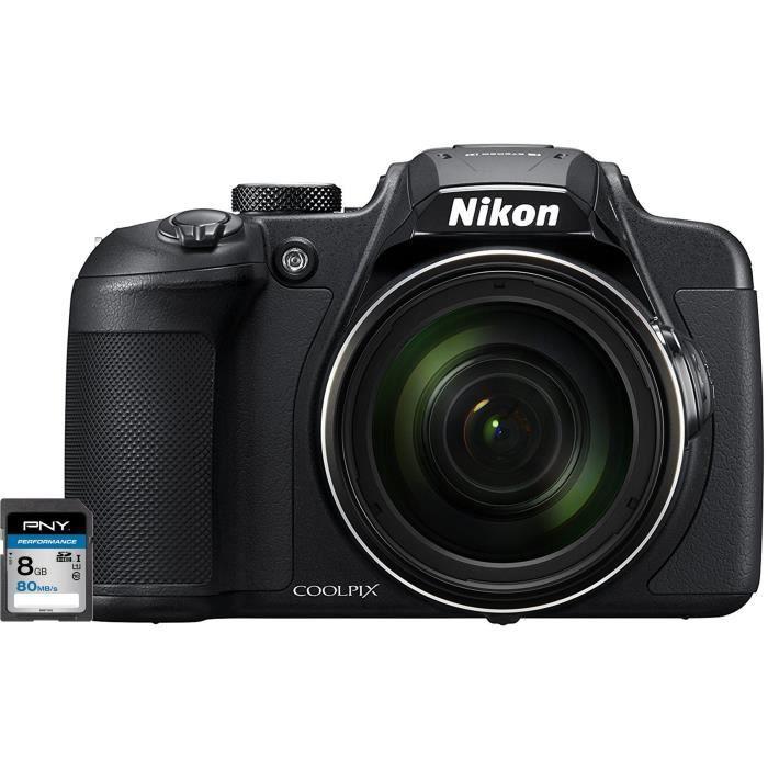 NIKON COOLPIX B700 Appareil photo numérique Bridge noir + Carte mémoire SDHC 8 Go