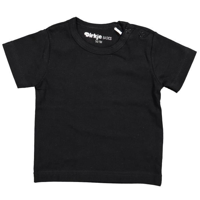 DIRKJE T-shirt Manches Courtes Noir Bébé Mixte