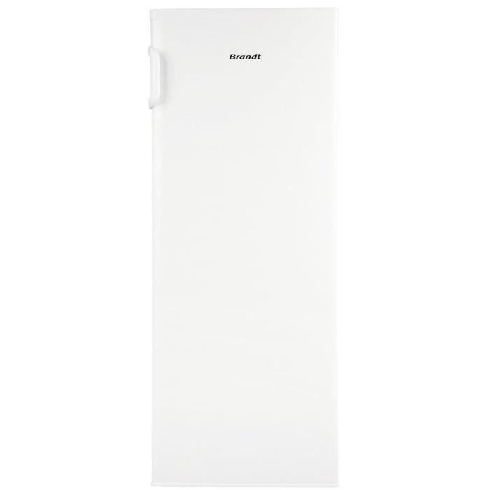 BRANDT BU4510NW - Congélateur armoire - 145 L - Froid ventilé - A+ - L 55,4 x H 144 cm - Blanc