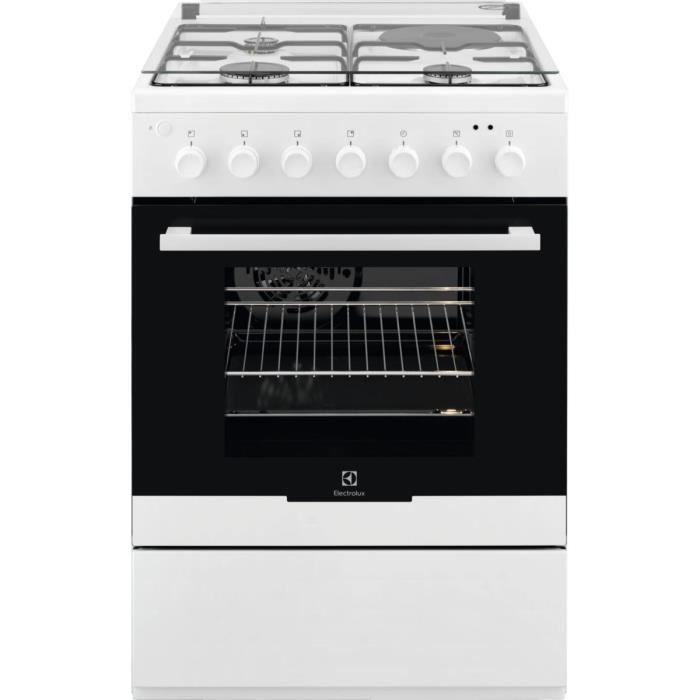 ELECTROLUX EKM60300OW Cuisinière table mixte gaz / électrique-4 zones-Four électrique Catalyse 54 L-