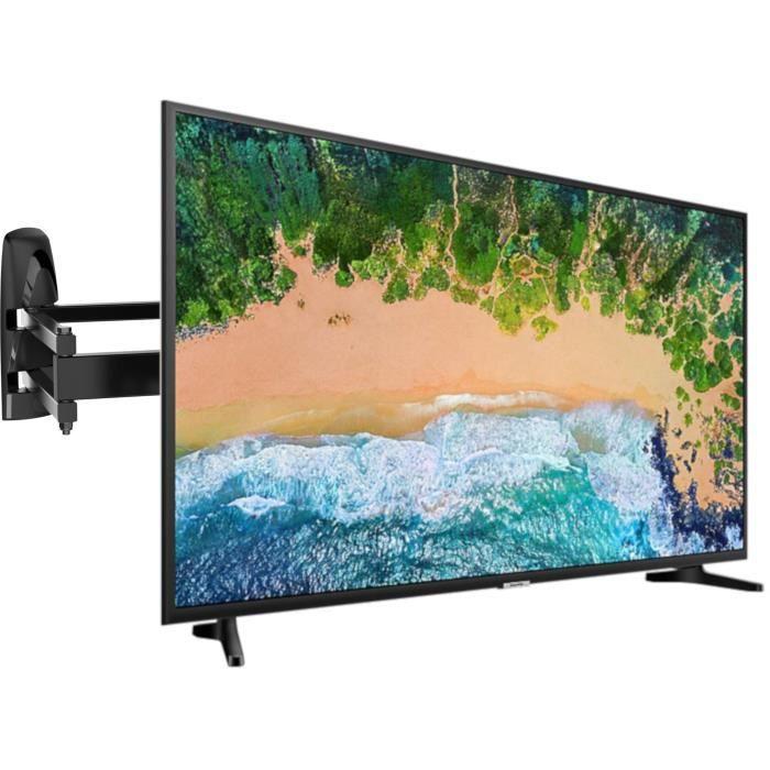 Samsung ue43nu7092kxxc tv led 4k uhd 43 108 cm smart tv 2 x hdmi meliconi mb400 pantograph support mural pour tv de 40