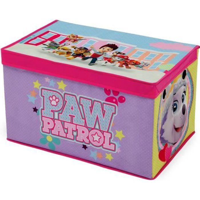 PAT PATROUILLE STELLA - Coffre à Jouets Enfant en Tissu - Rose et Violet