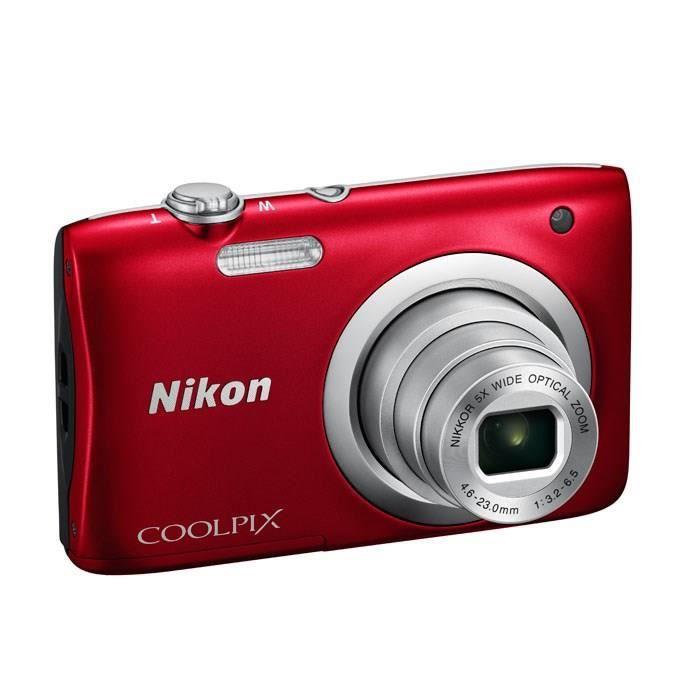 NIKON COOLPIX A100 Rouge - 20,1 mégapixels - Zoom NIKKOR - Appareil photo compact