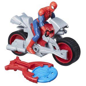 SPIDERMAN - Figurine 10 cm Spiderman et son véhicule. Le véhicule est propulsé grâce ? un bouton ! Garçon - A partir de 3 ans - Livré ? l'unité