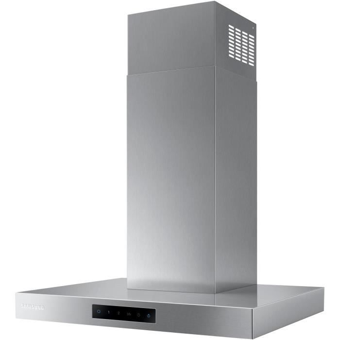 SAMSUNG NK24M5060SS - Hotte décorative murale-Evacuation / Recyclage-668 m3 air / h max-75 dB max-4 vitesses-L60 cm-Inox
