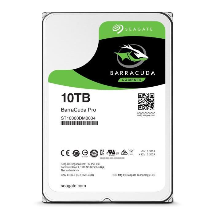 Seagate  HDD BarraCuda Pro 10To 3,5