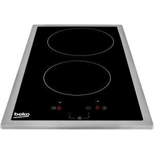 BEKO HDMC32400TX - Table de cuisson vitrocéramique - 2 zones - 3000W - L28,8 x P57cm - Rev?tement verre - Noir