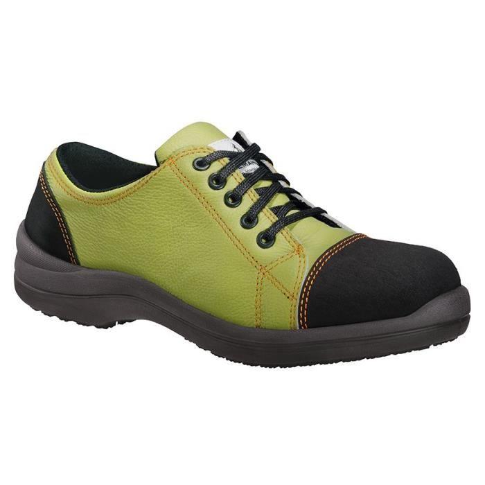 LEMAÎTRE PARABOLIGHT Chaussures de sécurité basse femme Libert'In S3 SRC vert anis
