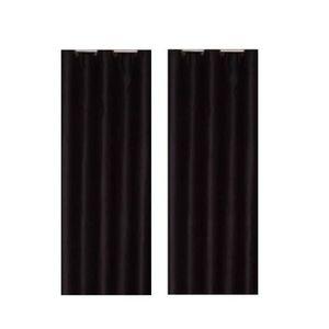 Paire de rideaux occultants 140x260 cm noir
