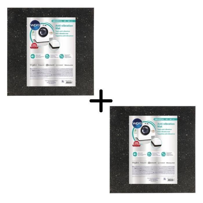 PACK WPRO ANT100 - Tapis anti-vibration pour lave-linge - 60x60cm X2