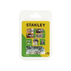 STANLEY Lot de 10 chevilles en métal multi-matériaux ? 4x37 mm STF100810-XJ