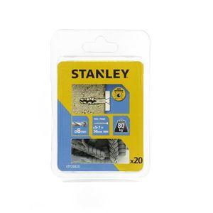 STANLEY Kit de 20 chevilles en nylon ? 8x40 mm sans vis STF20820-XJ
