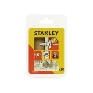 STANLEY Kit de 30 chevilles auto foreuses en nylon 25 mm avec vis STF30230-XJ