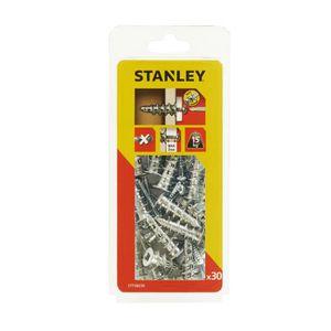 STANLEY Kit de 30 chevilles auto foreuses métal M4x39 mm avec vis STF58030-XJ