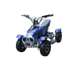 QUAD Pocket Quad Electrique 500W Bleu et Argent - Quad