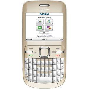 Téléphone portable NOKIA C3-00 Blanc et Or