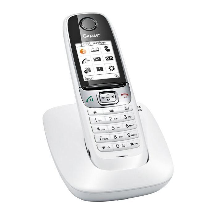 c36da34331f9ea Gigaset C620 Solo Téléphone Sans Fil Sans Répondeur Blanc - Achat ...