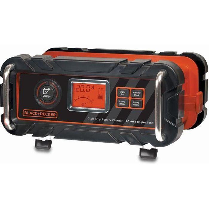 CHARGEUR DE BATTERIE BLACK & DECKER Chargeur de Batterie 20 A + Démarre