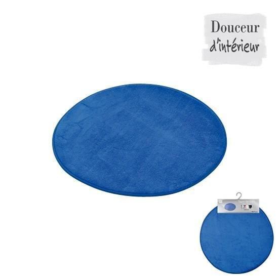tapis de bain rond bleu roi diamètre 60cm - achat / vente tapis de ... - Tapis Rond Pour Salle De Bain