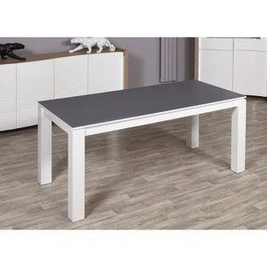 TABLE A MANGER SEULE MONTANA Table à manger 180x90 cm - Laqué blanc et