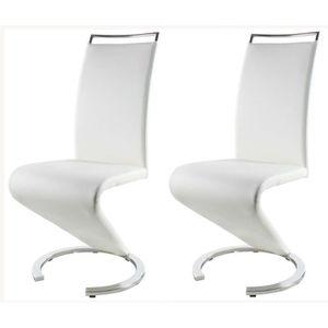 CHAISE SIDNEY Lot de 2 chaises design de salle à manger -
