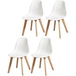CHAISE SACHA Lot de 4 chaises de salle à manger blanc - P