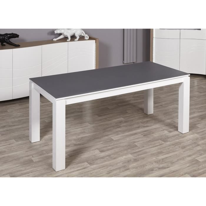 montana table manger 180x90 cm laqu blanc et gris achat vente table manger seule. Black Bedroom Furniture Sets. Home Design Ideas