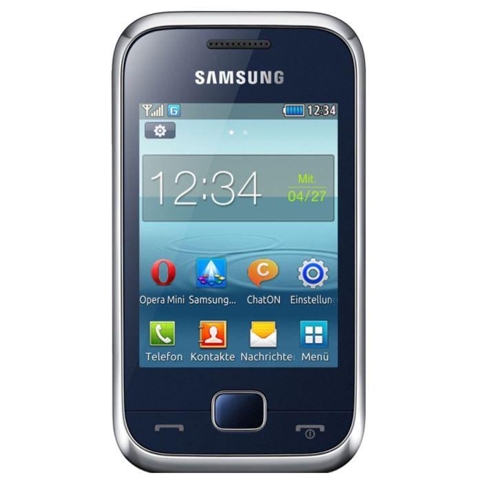 samsung rex 60 bleu achat t l phone portable pas cher. Black Bedroom Furniture Sets. Home Design Ideas
