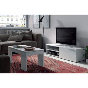 meuble tv bas achat vente meuble tv bas pas cher cdiscount. Black Bedroom Furniture Sets. Home Design Ideas