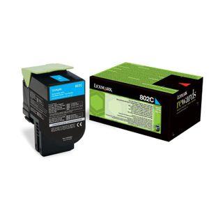 CARTOUCHE IMPRIMANTE LEXMARK Cartouche de toner 802C - Faible Capacité1