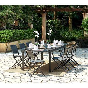 SALON DE JARDIN  Ensemble de jardin 1 table extensible 200-300 cm +