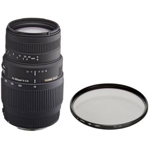 OBJECTIF Pack SIGMA 70-300mm F4-5.6 DG Macro CANON + Filtre