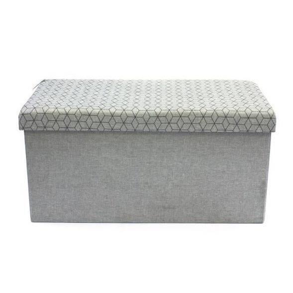 Coffre rangement avec assise blanc - Achat / Vente pas cher