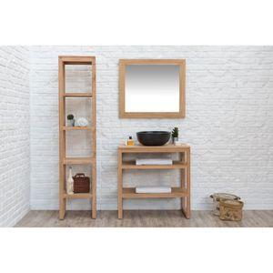 ensemble meuble salle de bain bois massif achat vente ensemble meuble salle de bain bois. Black Bedroom Furniture Sets. Home Design Ideas