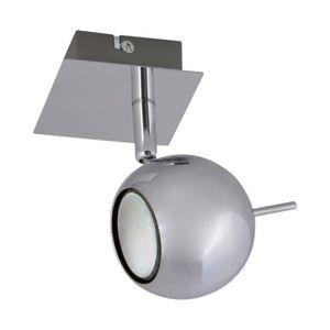plafonnier spot led gu10 achat vente plafonnier spot led gu10 pas cher cdiscount. Black Bedroom Furniture Sets. Home Design Ideas