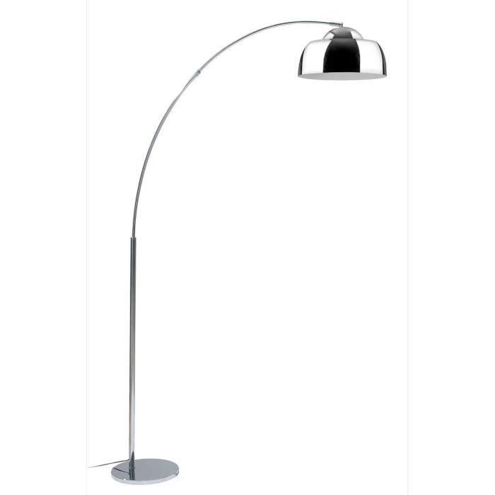 LAMPADAIRE ARC Lampadaire arc métal réflecteur E27 60W base d