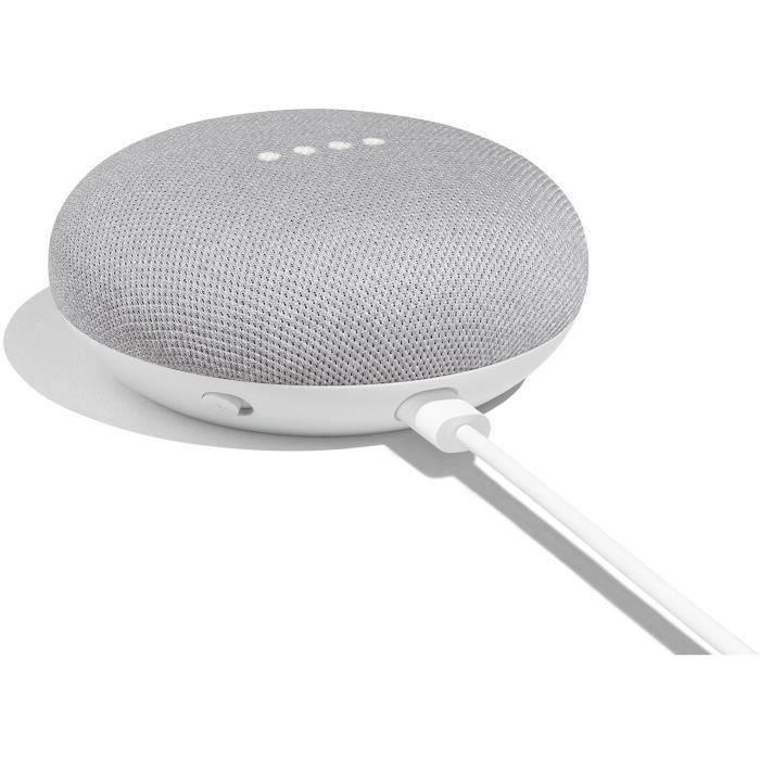 ASSISTANT VOCAL GOOGLE Home Mini FR - Blanc - Enceinte avec Assist