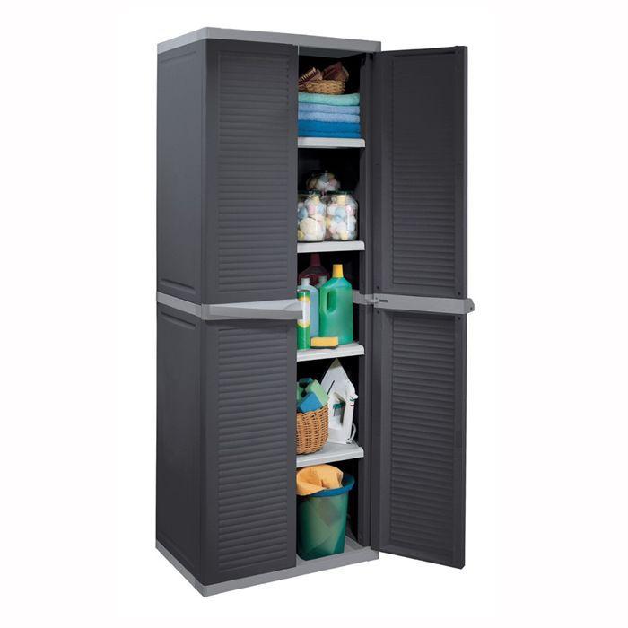 Allibert armoire de rangement utility harmony achat vente etabli meuble atelier plastique for Armoire de jardin plastique
