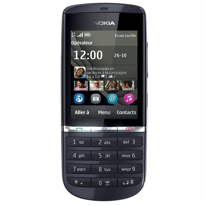 nokia asha 300 graphite achat t l phone portable pas cher avis et meilleur prix cdiscount. Black Bedroom Furniture Sets. Home Design Ideas