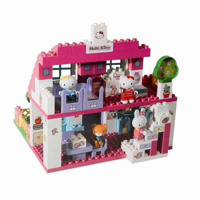la villa de hello kitty 129 pi ces achat vente assemblage construction cdiscount. Black Bedroom Furniture Sets. Home Design Ideas
