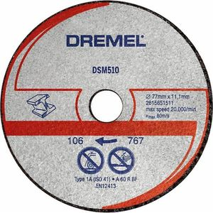ACCESSOIRE MACHINE DREMEL 3 disques métal/plastique DSM510 pour DSM20