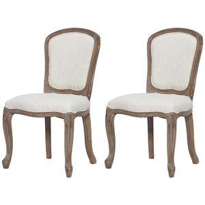 CHAISE CLASSIQUE Lot de 2 chaises de salle à manger en bo