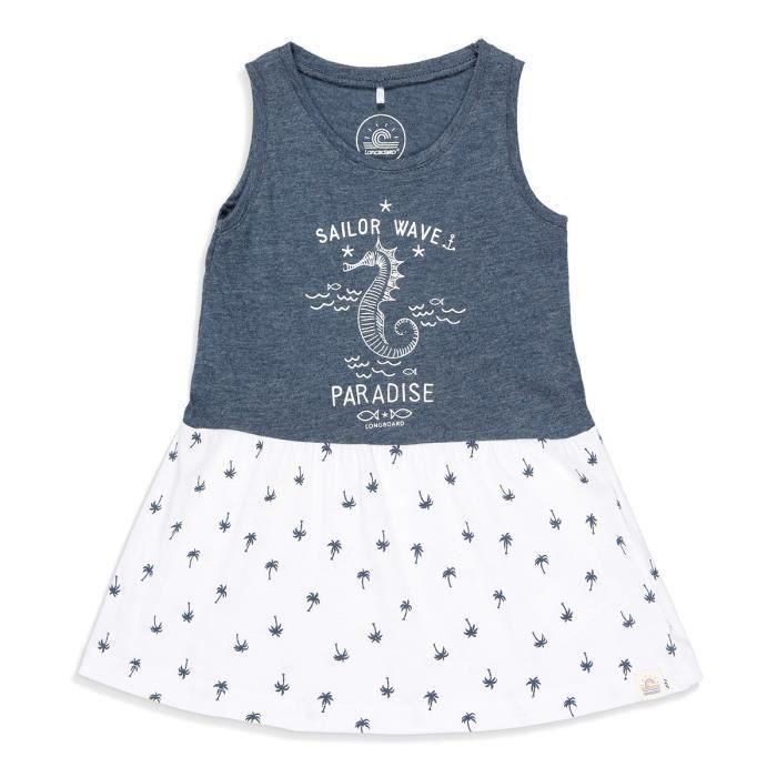 Wave Robe Sailor Enfant Blanc Fille Bleu Et Longboard Achat Marine n0Nwv8m
