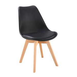 CHAISE BJORN Chaise de salle à manger - Simili noir - Sca