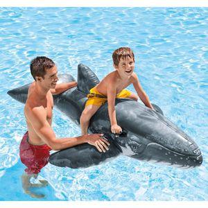 JEUX DE PISCINE INTEX Bouée Gonflable enfant Baleine Bleue à Cheva